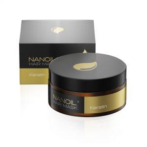 Nanoil keratinmaske for hår